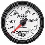 Auto Meter - 08-10 Ford 6.4L - Phantom II Series - 08-10 Ford 6.4L - Auto Meter Gauges - Auto Meter Phantom II Boost Gauge 100 psi