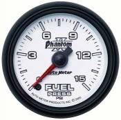 Auto Meter - 98.5-02 Dodge 24V - Phantom II Series - 98.5-02 Dodge 24V - Auto Meter Gauges - Auto Meter Phantom II Fuel Pressure 15 PSI