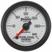 Chevy / GMC - 2007 - 2010 6.6L Duramax LMM - Auto Meter Gauges - Auto Meter Phantom II Diesel Fuel Rail Pressure