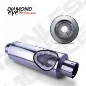"Diamond Eye - GM Duramax LB7 - Optional Parts - GM Duramax LB7 - Diamond Eye - 4"" Aluminized Louvered Muffler"
