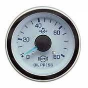 Isspro - GM 6.5L TD - Isspro EV Series - GM 6.5L TD - Isspro Gauges - Evm Gauge Elec Oil Press 80 Psi Chrome Face