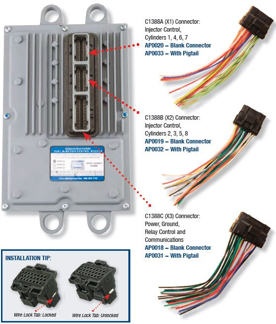 FICM_Connectors 6 0 powerstroke engine wiring harness 6 wiring diagrams collection  at gsmportal.co